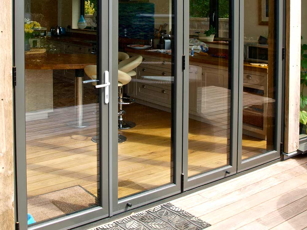 Closed Aluminium Bi-Fold Doors Sutton, Surrey