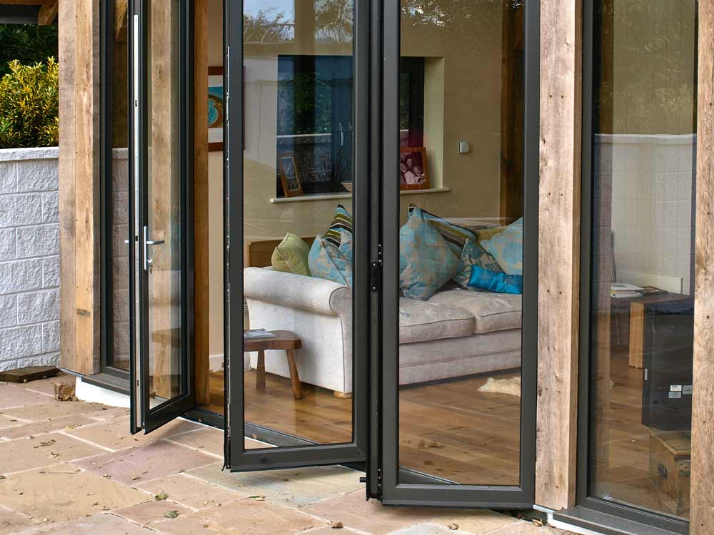 Open Aluminium Bi-Fold Doors in Sutton, Surrey